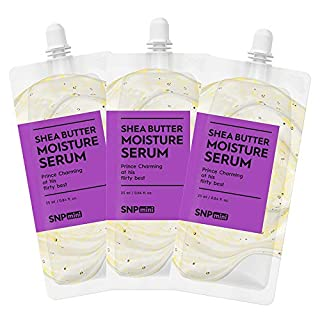 SNP mini - Shea Butter Body Moisture Serum - Skin Hydration for All Sensitive Skin Types - Spout Pouch Travel Design - 25ml per Pack - 3 Pack - Best Gift Idea for Mom, Girlfriend, Wife, Her, Women