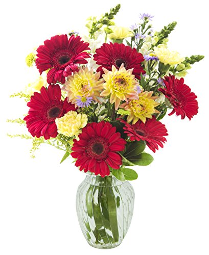 California Grown Collection: Seasonal Harvest Bouquet (26 Stems) of Grower's Choice with Vase