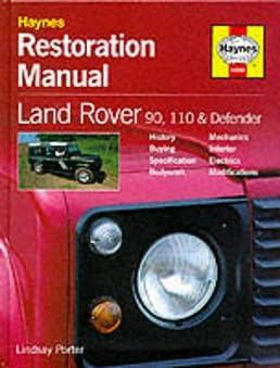 haynes owners workshop car restoration manual land rover defender rh amazon co uk land rover defender workshop manual 200tdi land rover defender workshop manual 200tdi