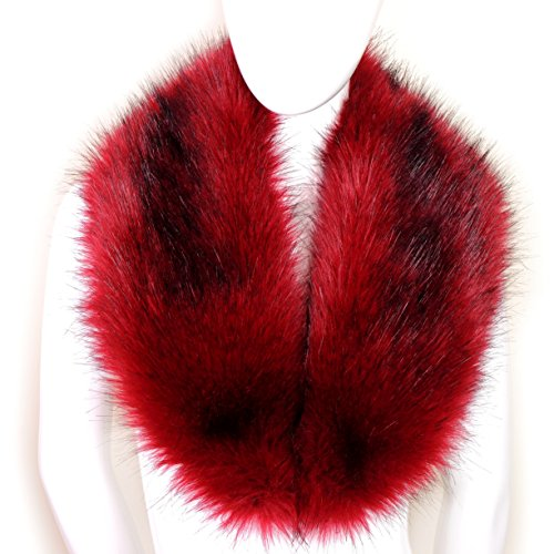 Futrzane Women's Faux Fur Neck Scarf Wrap