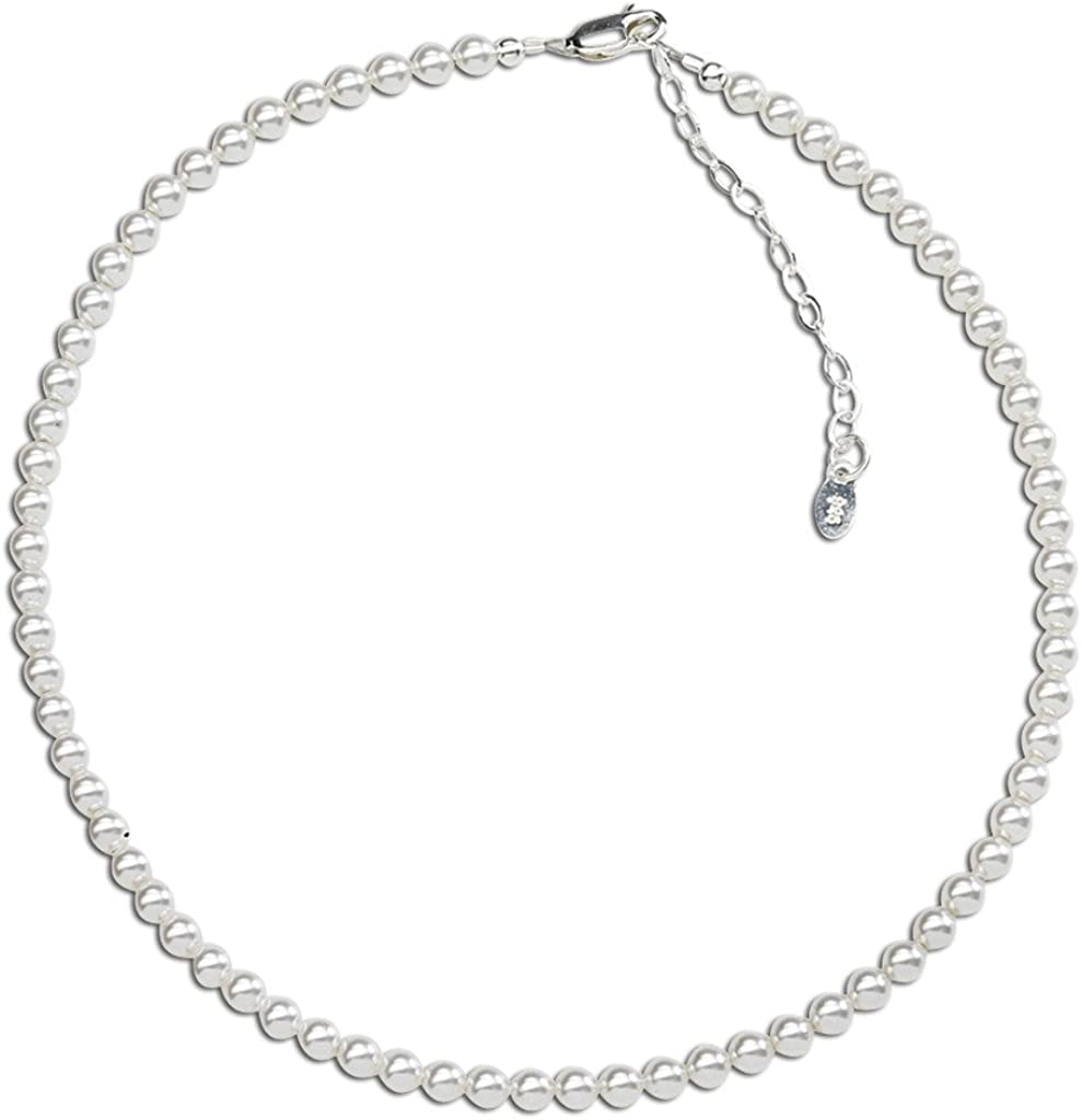 1 Extension CloseoutWarehouse Sterling Silver infinity Beaded Bracelet 6.5