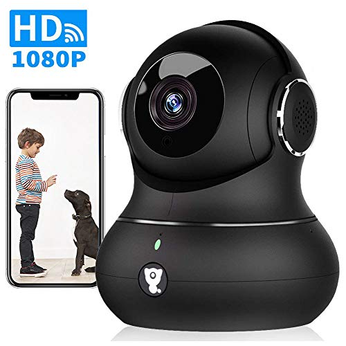 Wireless Indoor Home Security Camera - 1080P Littlelf Pet Camera IP WiFi Surveillance Baby Monitor with 2-Way Audio, Cloud Service, Night Vision, Remote Detect for iOS/Android