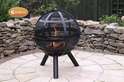Gardeco Ison Ball fire Pit, Black, cm