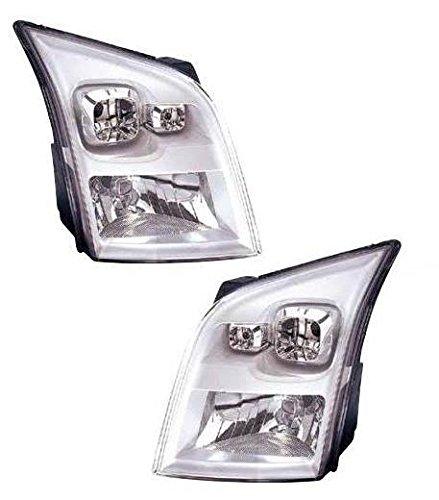 Transit MK7 2006-2014 Chrome Front Headlight Headlamp Pair Left /& Right