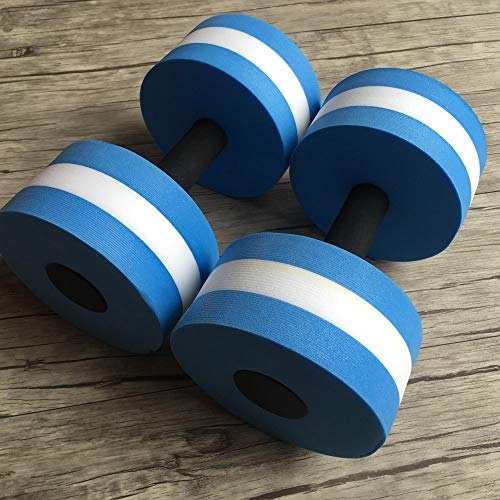 Muranba 2pcs Water Aerobics Dumbbells EVA Aquatic Barbell Fitness Aqua Pool Exercise