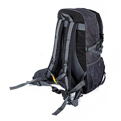 Rucksack - LOFTWELL Leichte Dauerhaft Reise Wanderrucksack Rucksack für Männer Frauen (schwarz und grau)