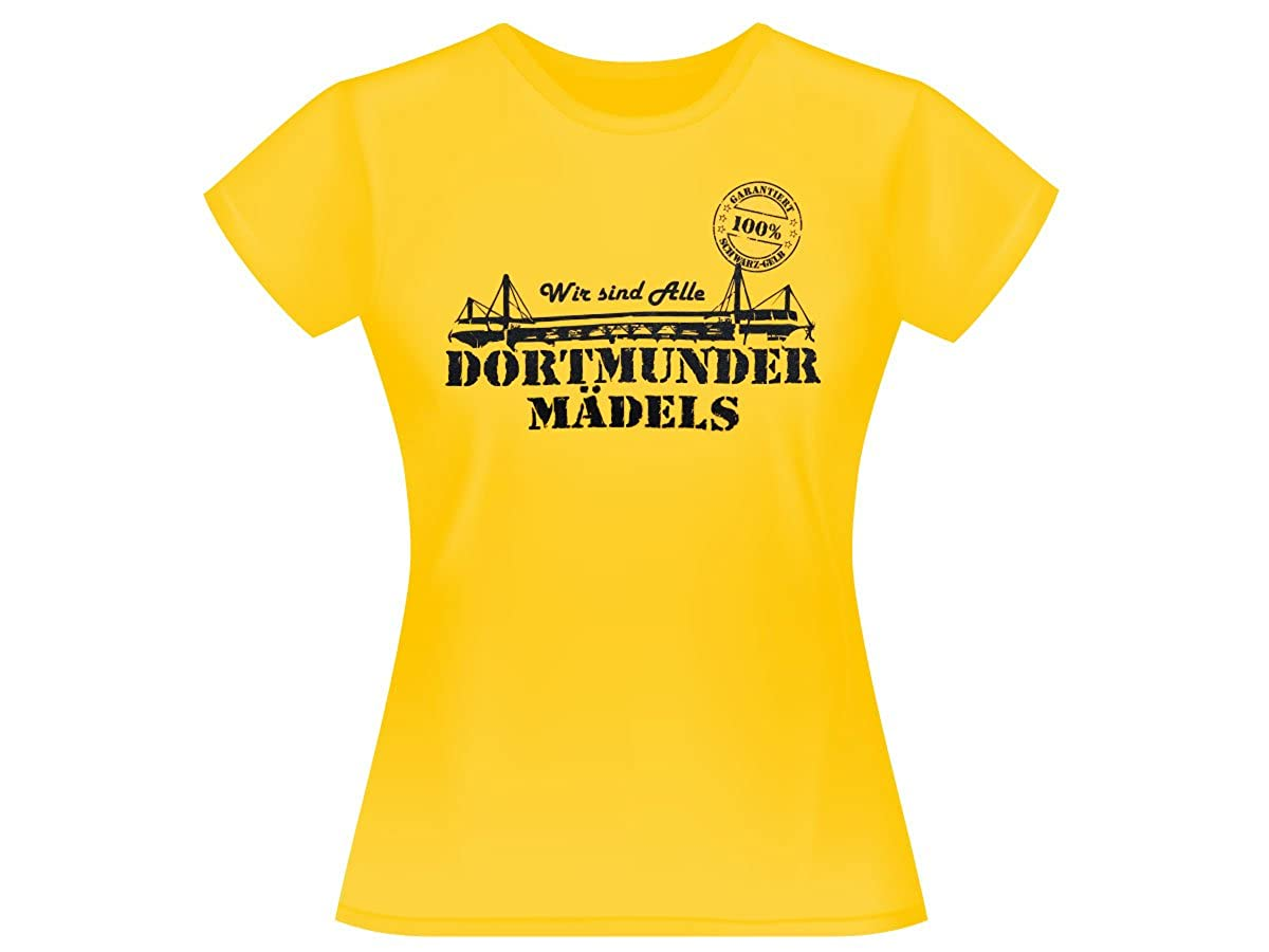 Alsino Dortmunder M/ädels T-Shirt Dortmund Fanartikel Fanshirt Shirt 100/% gelb
