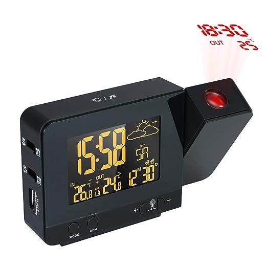 XF-B Reloj De Alarma De Proyección Digital LCD Estación ...