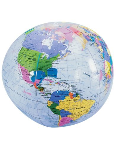 Clear Inflatable World Globe