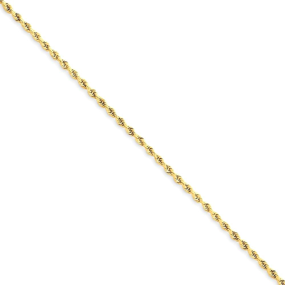 ICE CARATS 14k Yellow Gold 1.50mm Link Rope Chain Anklet Ankle Beach Bracelet Fine Jewelry Gift Set For Women Heart
