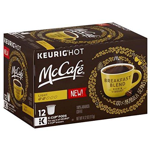 McCafe Breakfast Blend Light Roast Coffee K-Cups, 12-Count Box, (Pack of 3) [RETAIL PACKAGING]