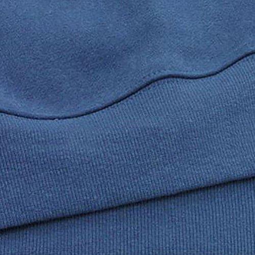 ZKOO Otoño Invierno Chaquetas Abrigos con Capucha Largos Encapuchado Cazadoras Parkas para Mujer Azul