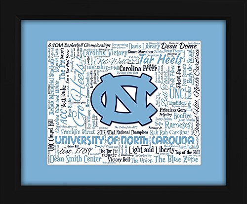 University of North Carolina (UNC) 16x20 Art Piece - Beautifully matted and framed behind glass