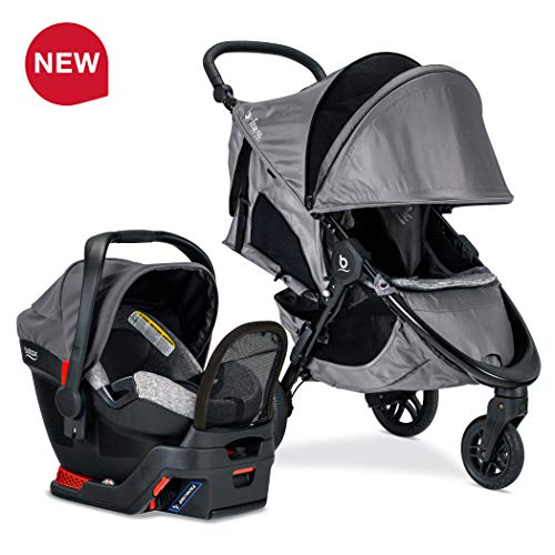 Britax B-Free Sport Travel System with Endeavours Infant Car Seat - Birth to 65 Pounds, Asher