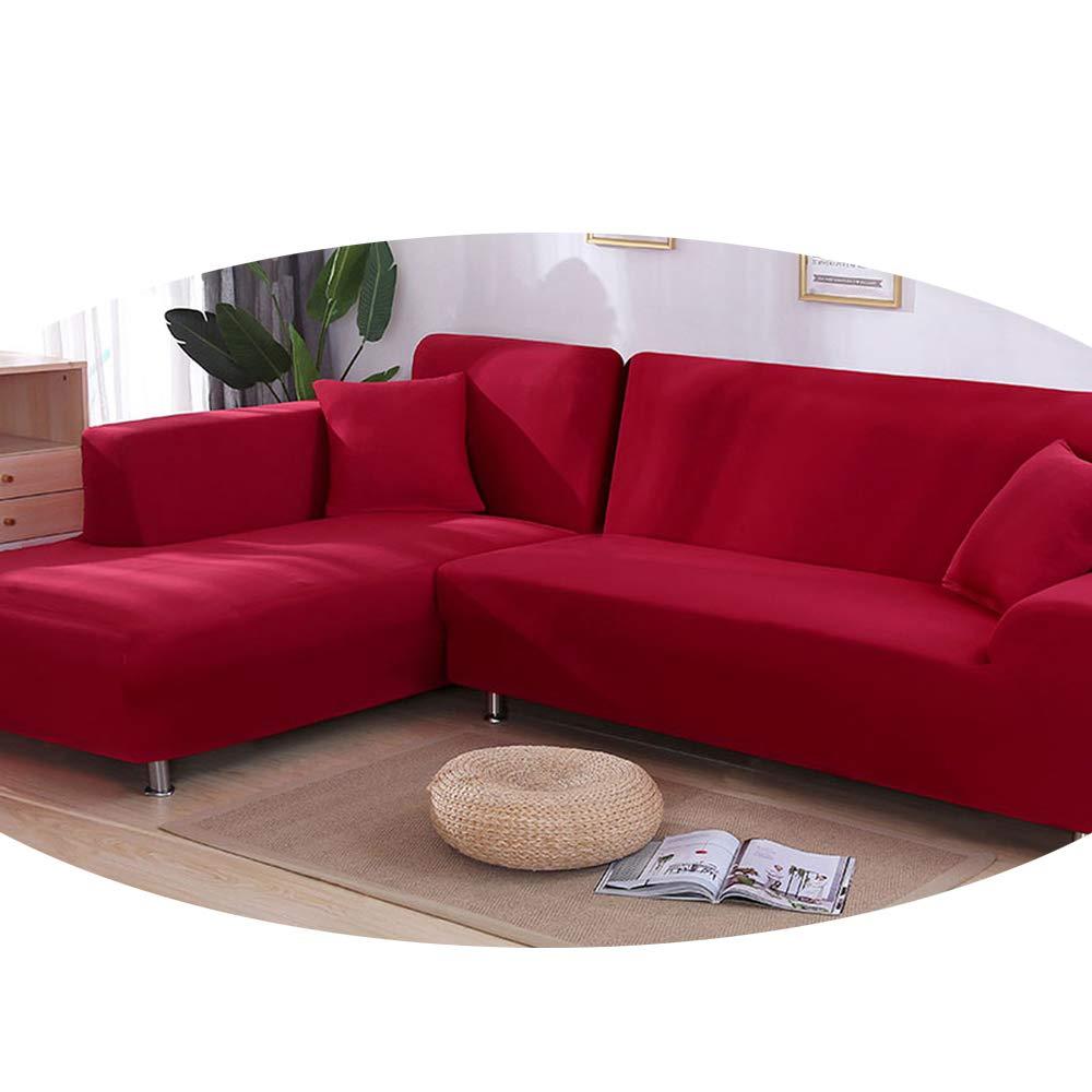 ZFADDS - Funda de sofá elástica en Forma de L, Color Azul ...