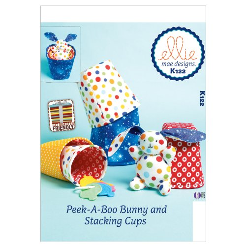 (KWIK-SEW PATTERNS K0122 Stacking Cups and Bunny Sewing Template, One Size)