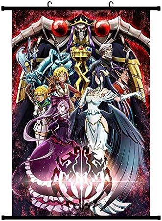 ALTcompluser Anime Poster Overlord Rollbild Kakemono Wallscroll D/écoration Murale Tissu 20 /× 30 cm