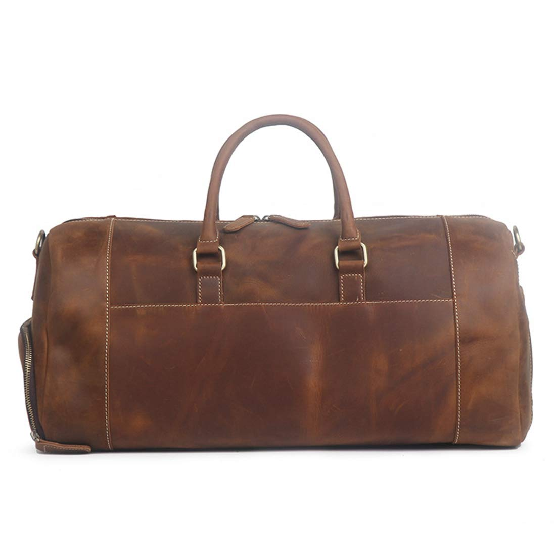 Color : Brown RABILTY Crazy Horseskin Male Travel Bag Large Capacity Single Shoulder Diagonal Shoe Duffel Bag