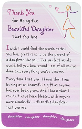 Wallet Card: Thank You for Being the Beautiful Daughter That You Are, 2.1