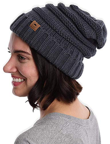 Tough Headwear Cable Knit Beanie - Thick, Soft & Warm Chunky Beanie Hats for Women & Men (Best Places To Ski In The Northeast)
