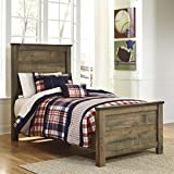 Ashley Trinell Wood Twin Panel Bed in Brown