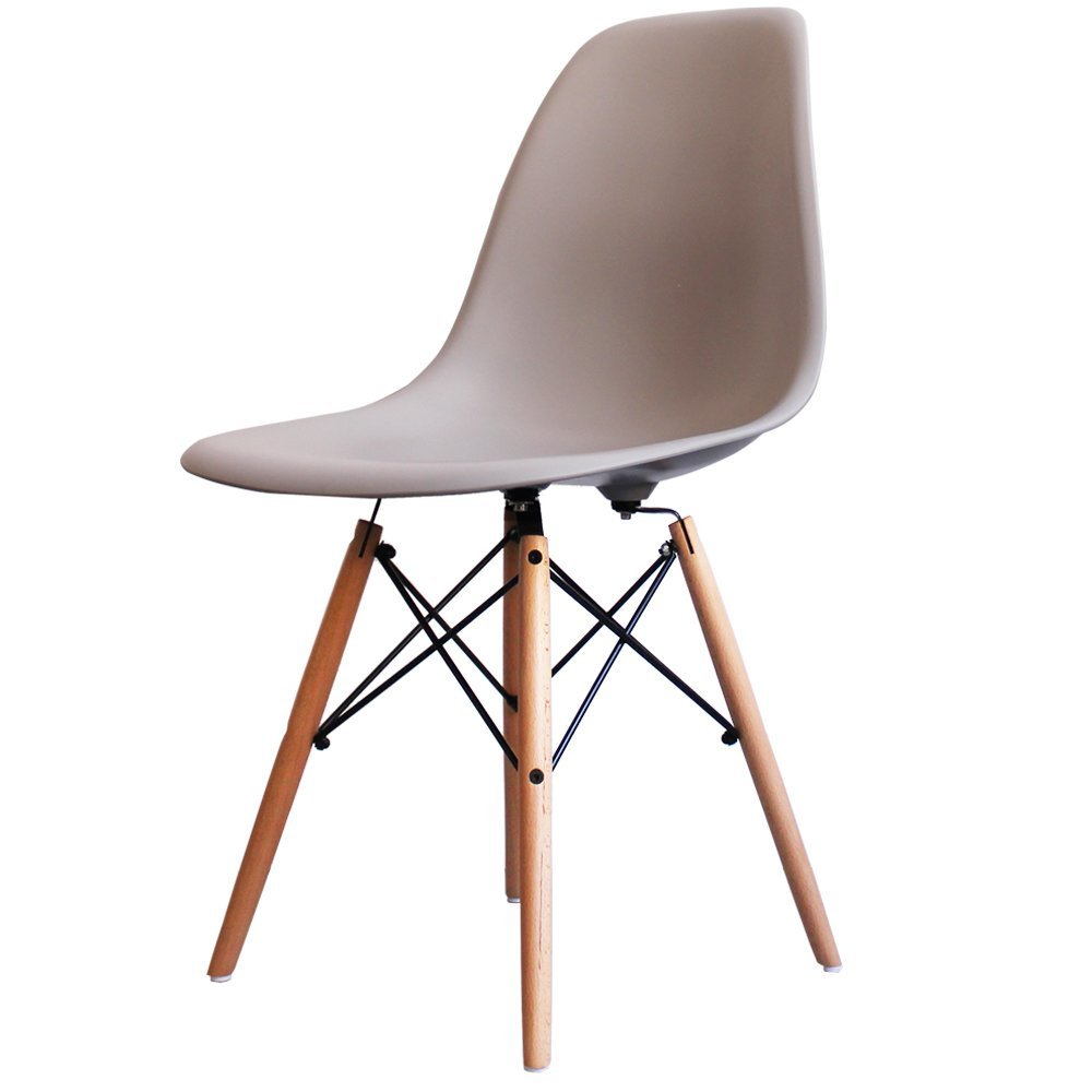 Charles Eames Style Light Grey Plastic Retro Side Chair Amazoncouk Kitchen Home