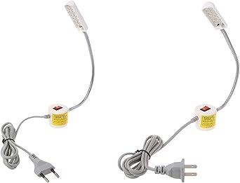 Zzqyis 12 LED 110 – 250 V base magnética máquina de coser cuello ...