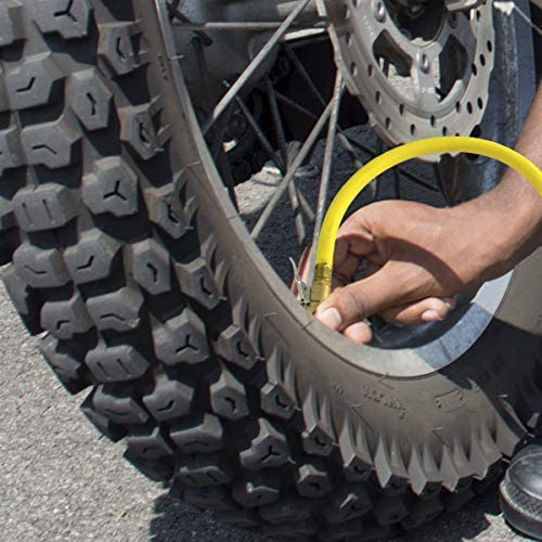 "150 PSI Tire Inflator Gauge Inflation Gun Locking Chuck 2/""  ¼"" NPT Flexible Hose"