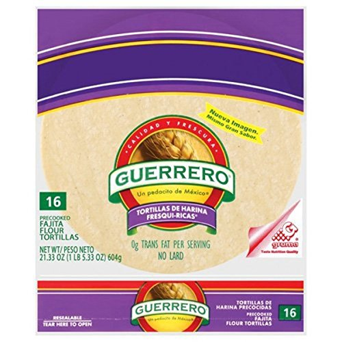 Guerrero Fresh Rich Flour Tortilla 16ct Tortilla De Harina Amazon Com Grocery Gourmet Food