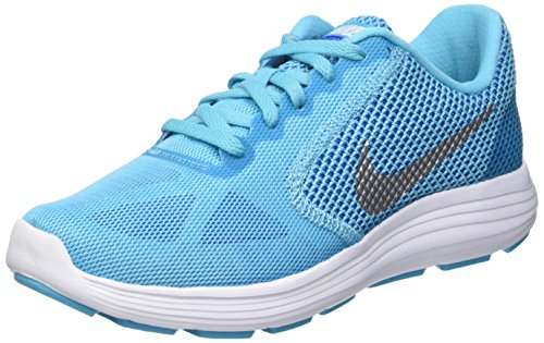 Nike Womens Us Game (NIKE Women's Revolution 3 Running Shoe, Gamma Blue/Photo Blue/Game Royal/Metallic, 9.5 B(M) US)
