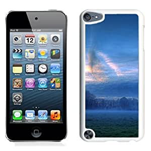 New Custom Designed Cover Case For iPod 5 Touch With Foggy Field Nature Mobile Wallpaper (2) Phone Case