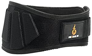 "Fire Team Fit Weightlifting Belt, Olympic Lifting, for Men and Women, 6 Inch, Back Support for Lifting (Black, 27"" - 32"" X-Small)"