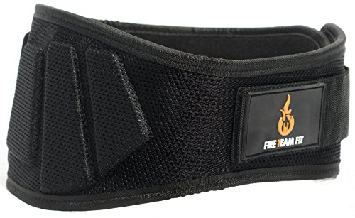 Nylon Weightlifting Belt,, Back Support for Lifting, Sizes and Colors for Both Men and Women (Black, Small) (Abdominal Back Support Belt)