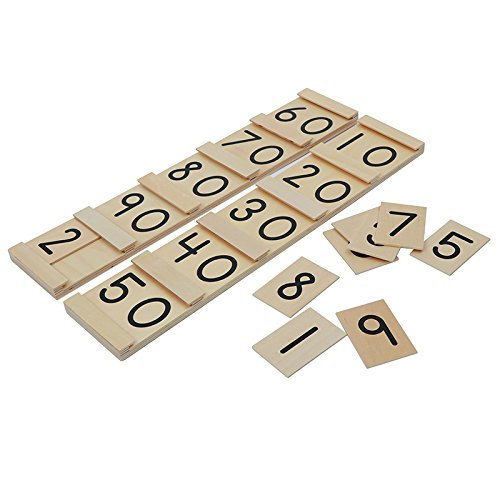 Montessori Math Teens and Tens Seguin Board with Bead Bars Wood Toys Early Childhood Education Preschool Training Baby by DANNI (Image #4)