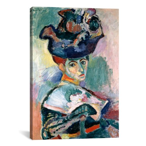iCanvasART Woman in a Hat Canvas Art Print by Henri Matisse, 18 by 12-Inch ()
