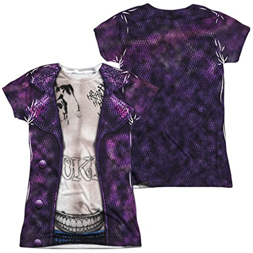 Sexy Harlequin Joker Costumes (Juniors: Suicide Squad- Joker Costume Tee (Front/Back) Juniors (Slim) T-Shirt Size XXL)