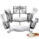 Buffet Organizer with Scroll Design, 7-Piece Set