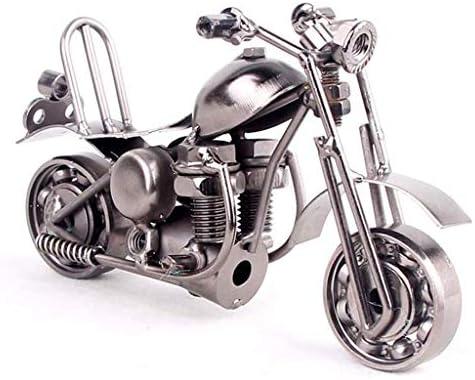 鉄オートバイモデルシミュレーション装飾品家の装飾リビングルームワインキャビネット、ホイールを回すことができます (Color : Brass, Size : 15*5.5*7.5cm)