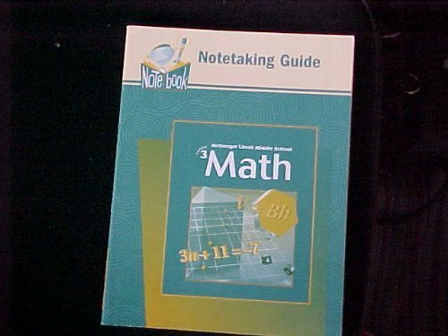 McDougal Littell Middle School Math, Course 3: Practice Workbook, Student Edition