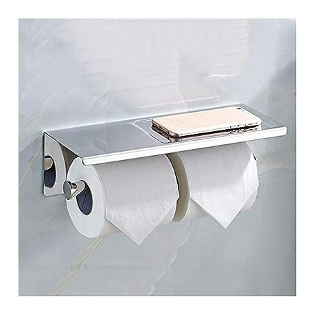 Vivian doble rollo papel higiénico soporte baño cocina de acero inoxidable dispensador de toalla de papel