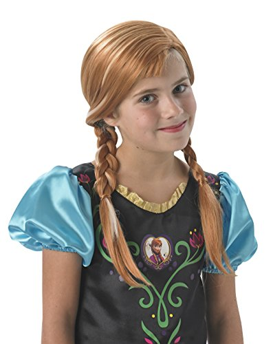 Rubie's Official Disney Frozen Anna Wig, Children Costume - One Size ()