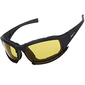 WMYY Gafas De Ciclismo Visión Nocturna UV 400 A Prueba De Viento Gafas Polarizadas Marco Ultraligero