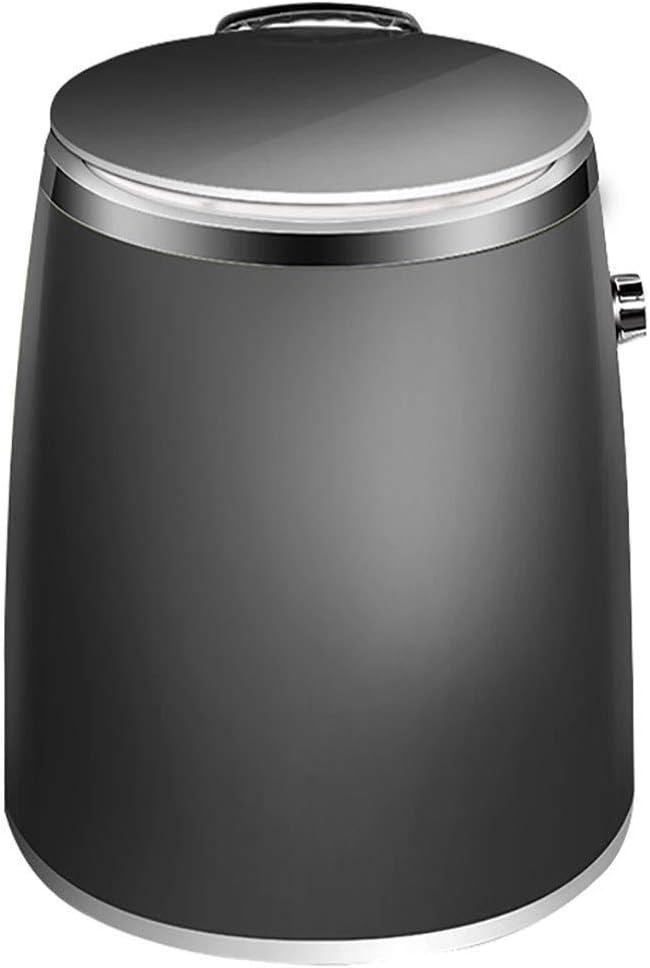 ZXvbyuff Lavadora Semi-automática portátil Compacto, Lavadoras Mini portátil, pequeña arandela con el Reloj de Control and Dry deshidratación, for el hogar del Dormitorio Apartamentos (Negro)