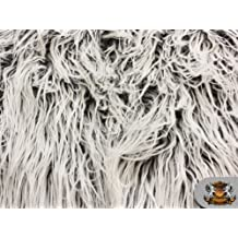 "Faux Fur Long Pile ULTRA MONGOLIAN 2 TONE GREY Fabric / 64\"" W / Sold by the yard"