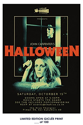 RARE POSTER john carpenter HALLOWEEN horror movie 1978 giclee REPRINT #'d/100!! 12x18