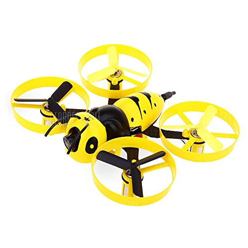 FuriBee Wasp Mini RC Camera drone with 600TVL ,Buzzer and Brushed Coreless Motor for Indoor + outdoor Racing,Yellow