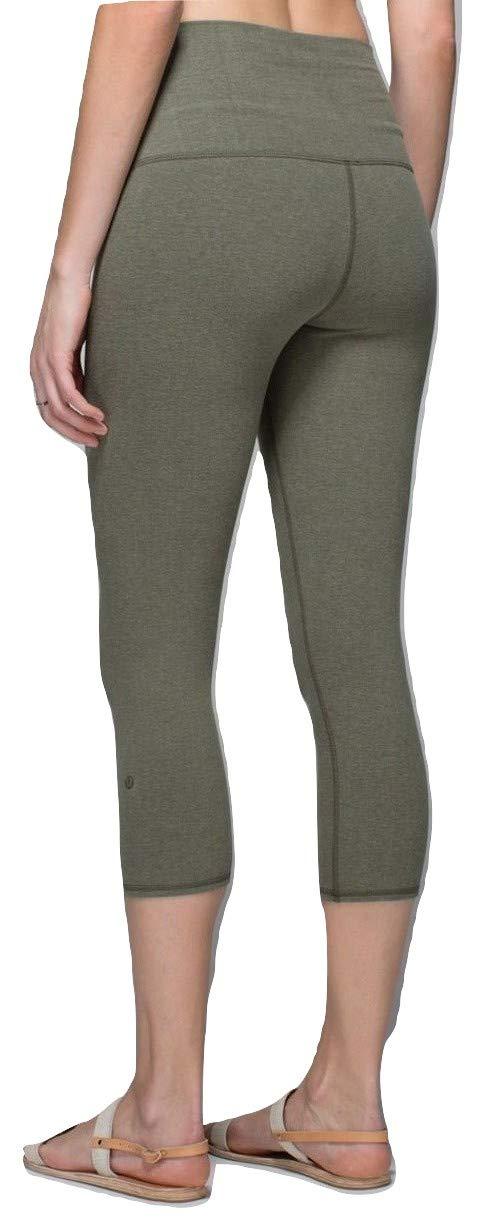 Lululemon Wunder Under Crop Cotton Yoga Pants (Heathered Deep Camo, 2)