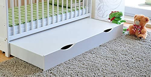 color blanco Cuna de rejilla para beb/é con colch/ón de espuma de aloe vera y rieles dentados de altura regulable convertible en cama infantil