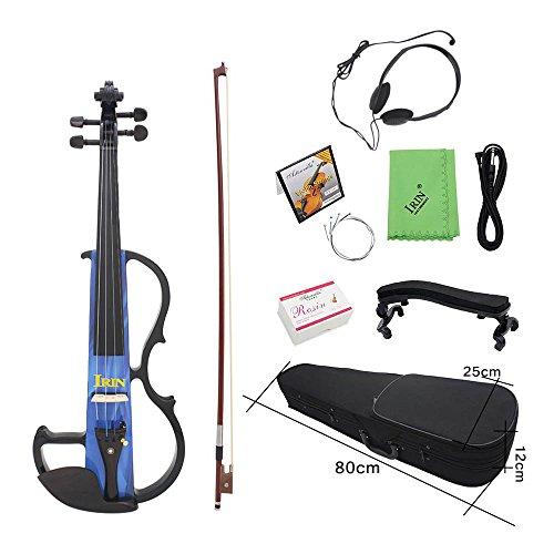 Walmeck Electric Violin Fiddle Maple Wood Stringed Instrument Ebony Fretboard Violin for Beginner. by Walmeck