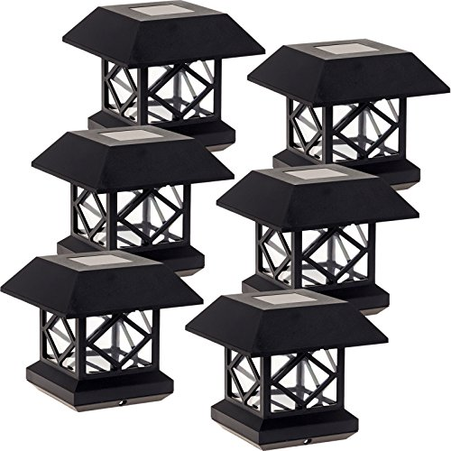 Post Black Lights 7 (GreenLighting Outdoor Summit Solar Post Cap Light for 4x4 Wood Posts 6 Pack (Black))